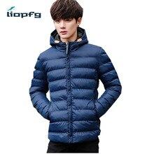 2017 новый мужской хлопок с капюшоном зимняя куртка высокого качества тонкий хлопок качество высокое качество ткани теплый моды короткий куртка WM29