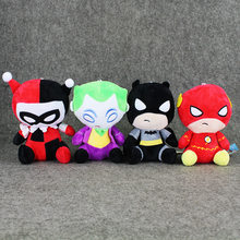b4fc6e34dab8 4Styles America Super Heroes Plush Toys The Flash Batman Harley Quinn The  Joker Soft Stuffed Dolls
