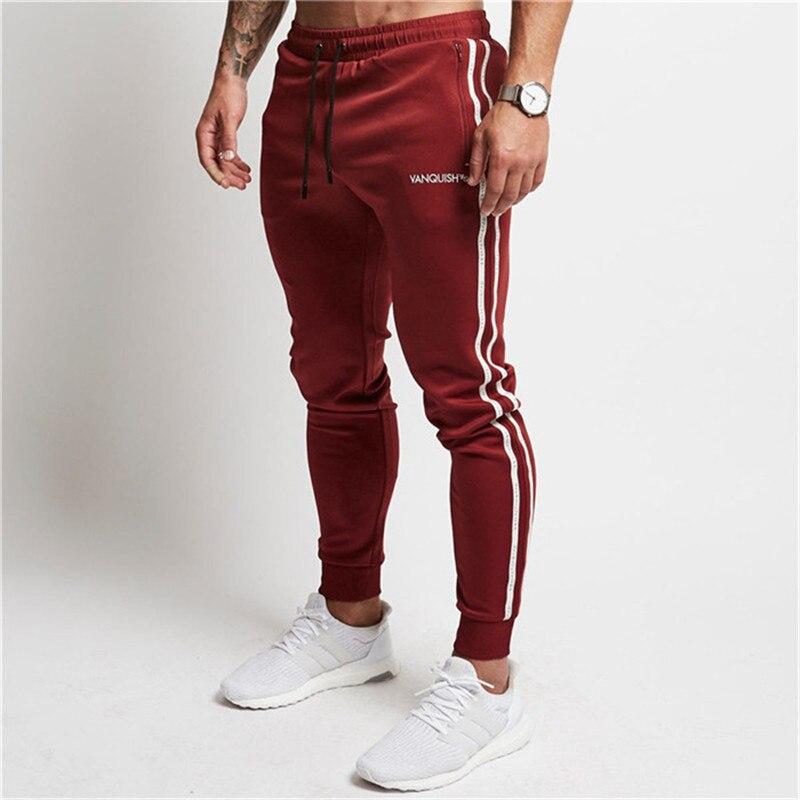 Para estrenar 041ed 0cf60 2018 Pantalones Hombre bodybuilding casual moda marca Jogger ...