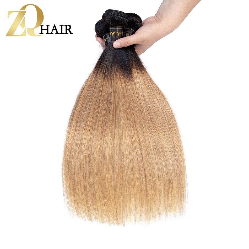Buy Cheap Zq Hair Ombre T1b/27 Bundles Mongolian Straight 3 Bundles 100% Human Hair Weaves Non Remy Hair Extension 10-26inch Free Shipping Durable Service Human Hair Weaves Hair Weaves