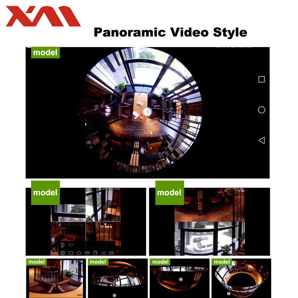 Двухлампочка 360 Panoramin Safty Wifi 1080 P VR камера безопасности видеокамера с обнаружением движения CCTV поддержка ПК, планшета, телефона