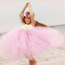 Здесь можно купить   Princess Tutu Dress Flower Girl Tulle Dress Kids Birthday Party Wedding Bridesmaid Ball Gowns Photo Clothing TS082 Children
