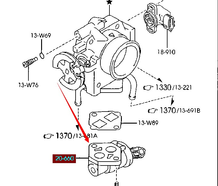 Engine Idle Air Contral Valve For Mazda 323 Family Bj 1998 2001 1 6l
