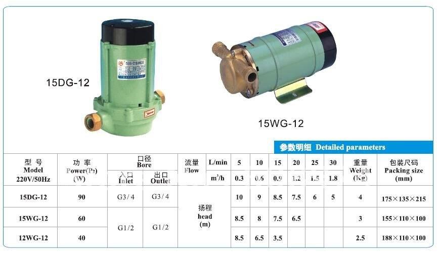 Бустерный мини-насос и бытовой насос для увеличения чистой воды 15DG-12