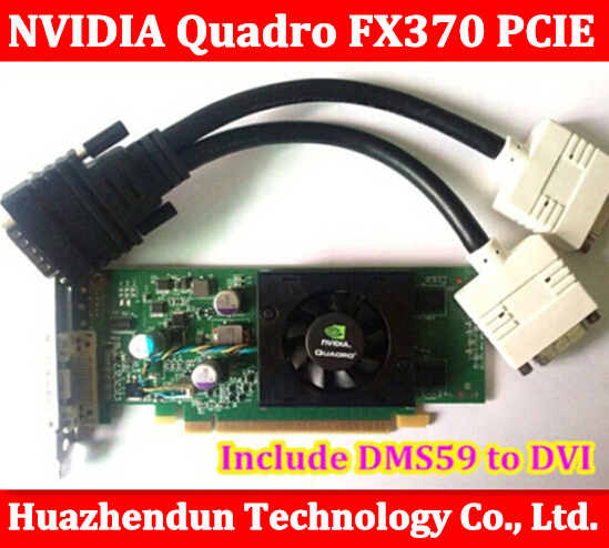 Original High Quality NVIDIA Quadro FX370 PCI-E with DMS 59 Cable FX 370 3D griaphic card 1year warranty high quality pci 6503 selling with good quality