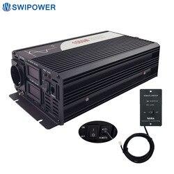 1500 W onda sinusoidale pura solar power inverter DC 12 V 24 V 48 V a 110 V AC 220 V con telecomando