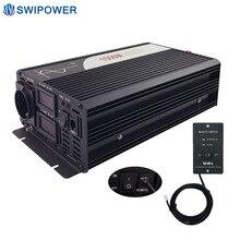 1500 Вт Чистая синусоида солнечный мощность Инвертор DC 12 В 24 48 к AC 110 220 с дистанционное управление
