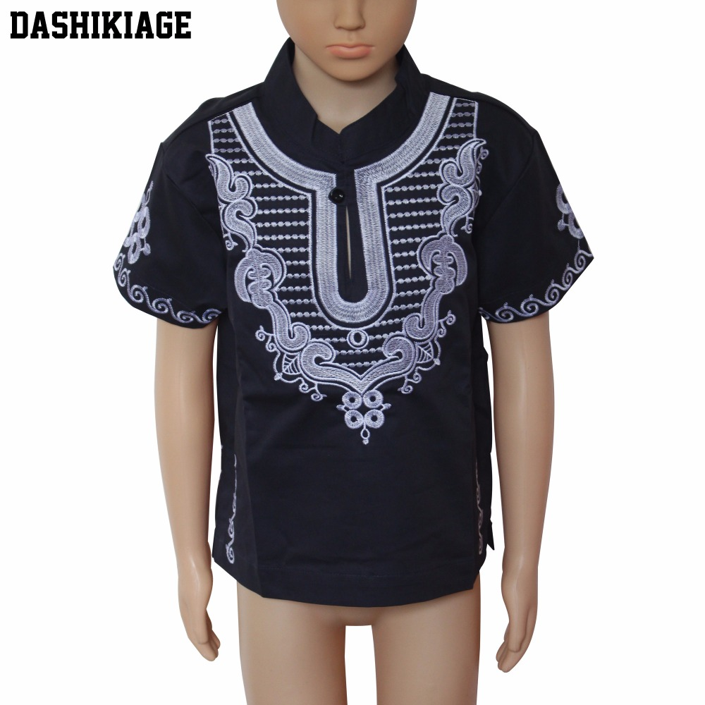 Wholesale Kids 2017 Child New Design Dashiki Embroidery