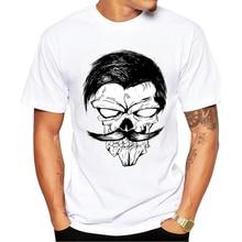 New 2019 Summer Fashion Design printed Sir Skull T Shirt Men's High Quality Tops Hipster tees O-Neck T-shirts