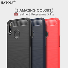 Cover OPPO Realme X Lite Case Business Style Soft Silicone Rubber Phone for
