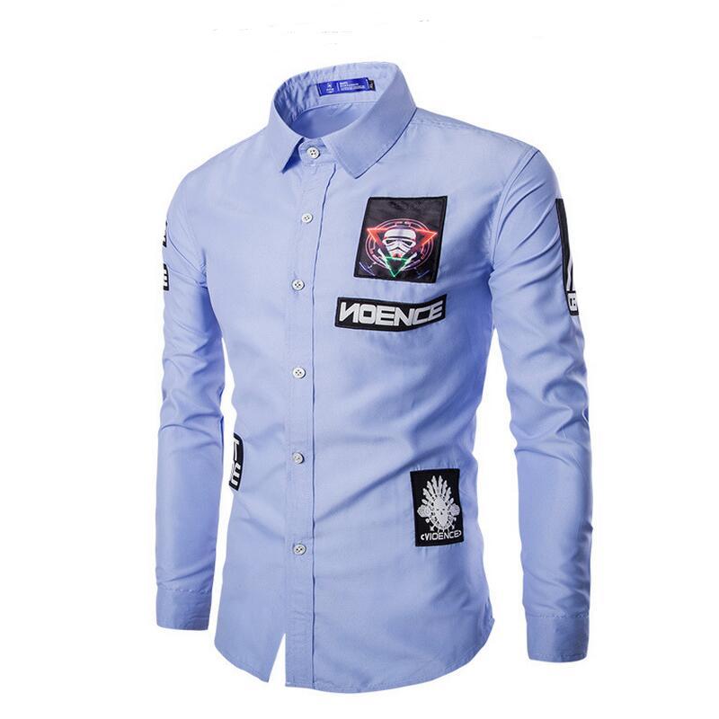 44e199b6db7 Рубашка Бренд Мужской Моды Сорочка Homme Бренд Одежды Мульти-Стиль  Тай-Красителя Slim Fit Мужчины Рубашки Вскользь Camisa мужские Рубашки