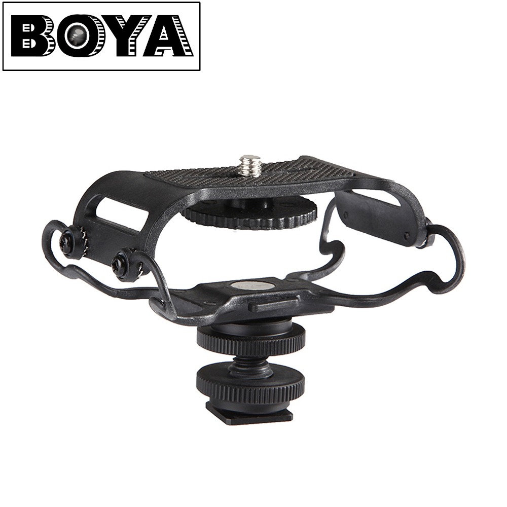 цена на BOYA BY-C10 Microphone Shock mount for Zoom H4n/H5/H6 for Sony Tascam DR-40 DR-05 Recorders Microfone Shockmount Olympus Tascam