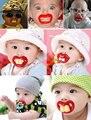 2017 Nuevos Muchachos de Las Muchachas Infantiles Del Bebé Recién Nacido Lindo Divertido de La Novedad Titular Chupete Chupete Bebe Niño Maniquí Alimentación Pezón Productos Para Bebés