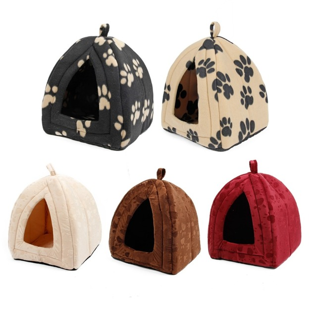 Cone Pet Cat Bed Kitten Kennel Very Soft Fabric Dog Bed Pet House Puppy Dog Cat with Paw Cama Para Cachorro Products for Animals