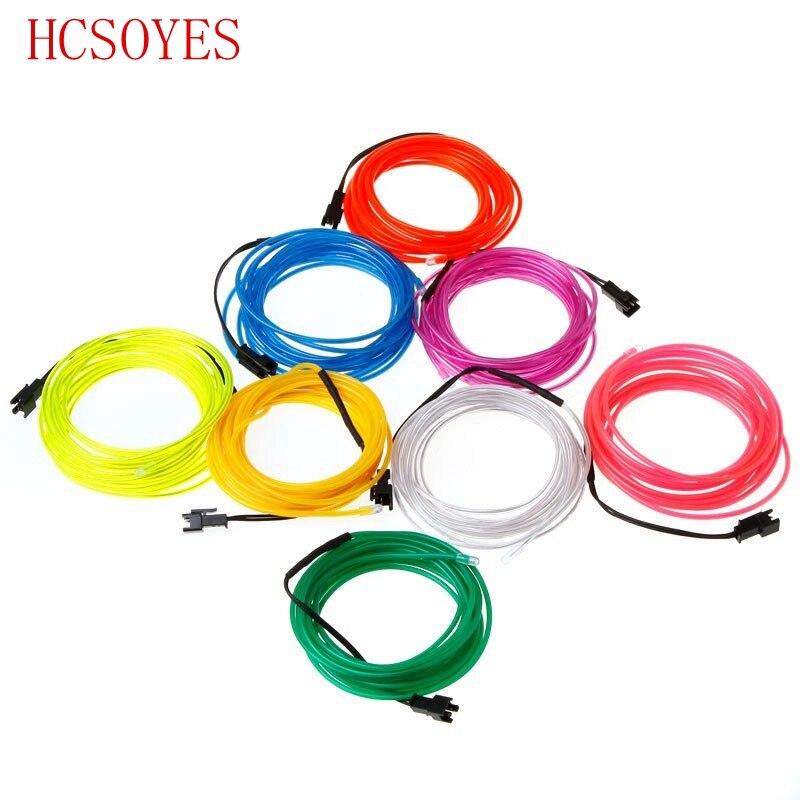 3 mt el draht flexible neonlicht glühen seil band kabel streifen LED ...