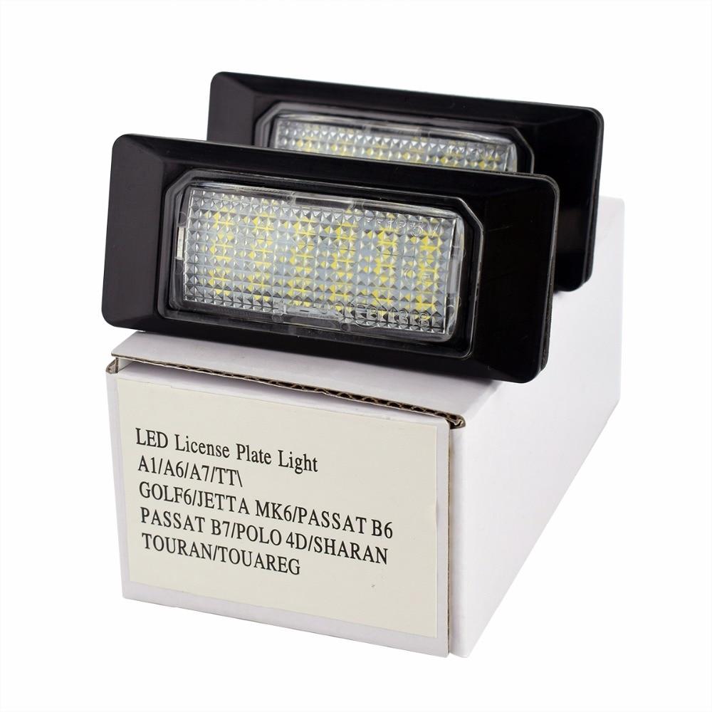 2pcs Car LED License Plate Light for Audi A1 A6 A7 TT Volkswagen VW Golf 6 Passat B6 B7 Polo 4D Jetta MK6 Touran Touareg in Signal Lamp from Automobiles Motorcycles