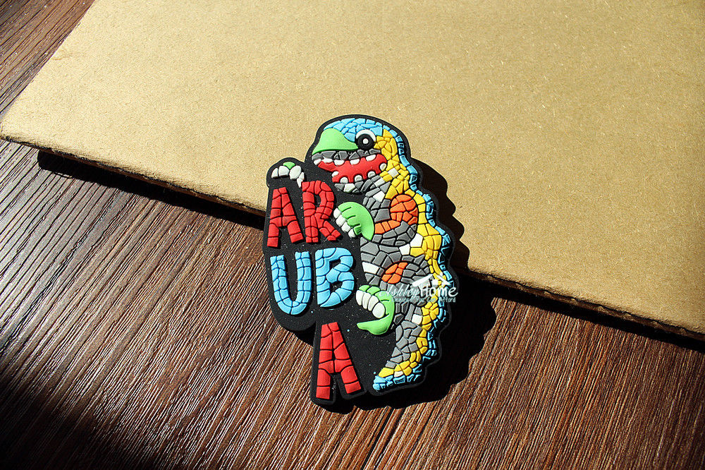 Caribbean Sea ARUBA Tourist Travel Souvenir 3D Rubber Lizard Fridge Magnet GIFT IDEA