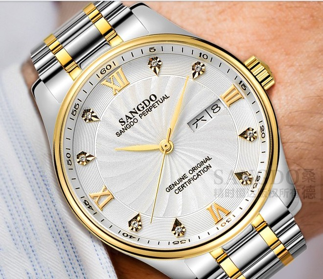 40mm Sangdo Luxury watches Automatic Self-Wind movement Sapphire Crystal High quality 2018 new fashion Men's watch SD39