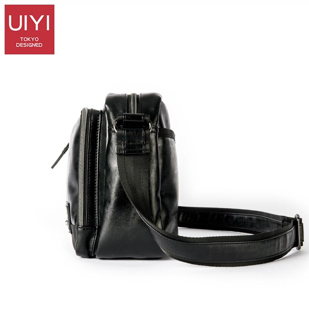 UIYI décontracté hommes Messenger sacs PVC sac à bandoulière mode hommes affaires sac à bandoulière voyage sac à main livraison directe # UYX7056-in Bandoulière Sacs from Baggages et sacs    3