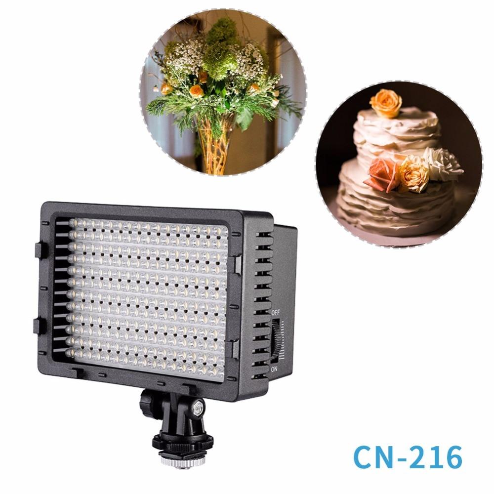 NEEWER CN 216 Ultra High Power Panel Digital Camera Camcorder Video Light LED Light for Canon