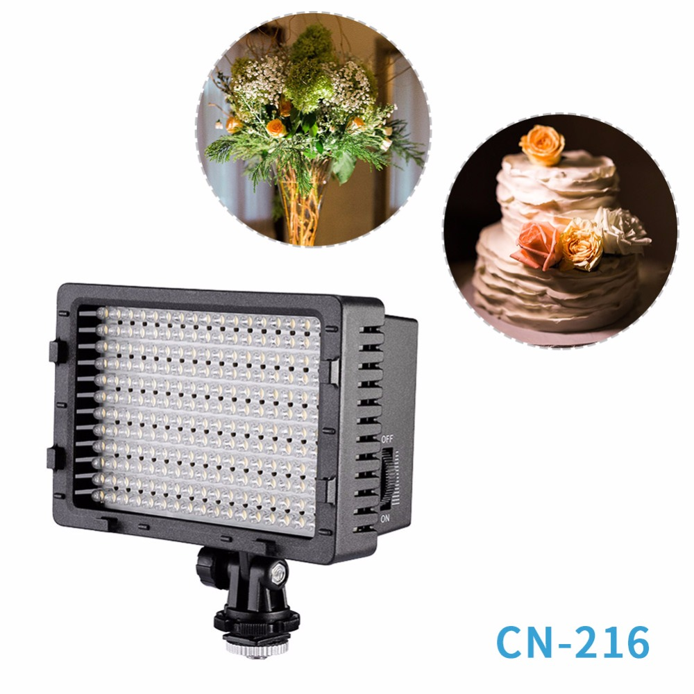 NEEWER CN-216 Ultra High Power Panel Digitalkamera / Videokamera Video Light, LED-lys for Canon Nikon SONY Digital SLR-kameraer