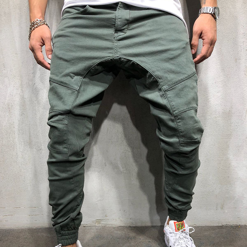 Casual Pants Fashion European-Size Multi-Pocket Brand Men's Personality