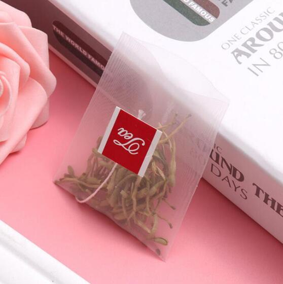 3000 قطعة/الوحدة كيس شاي هرمي الشكل مرشحات النايلون تيباج واحدة سلسلة مع التسمية شفافة فارغة أكياس الشاي-في أكياس شاي للاستخدام لمرة واحدة من المنزل والحديقة على  مجموعة 1