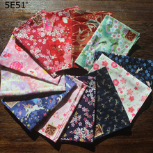Men Women Children handkerchief furoshiki cotton 100%/Japanese style sakura printed 35cm/Many uses