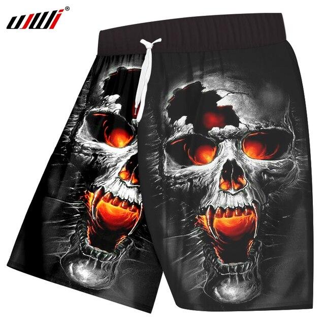 9365df2cd6 UJWI Casual Shorts Men Black Short Anime Skull Short 3d Print Shorts Mens  Summer 2018 New