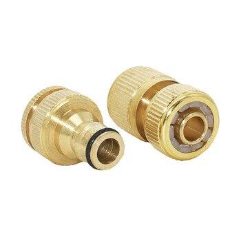 Manguera de latón de jardín conector rápido 1/2 conector de cobre manguera de jardín rosca hembra 1/2 3/4 pistola de agua 1 Juego