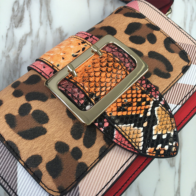 New Women Shoulder Bags Stars Serpentine Pattern Patchwork Woman's Handbags Day Clutches Ladies Messenger Bags High Quality