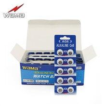 200pcs/lot Wama AG6 1.5V Alkaline Button Cell Batteries SR920SW SR69 SG6 LR69 171 920 Disposable Watch Coin Battery Wholesales