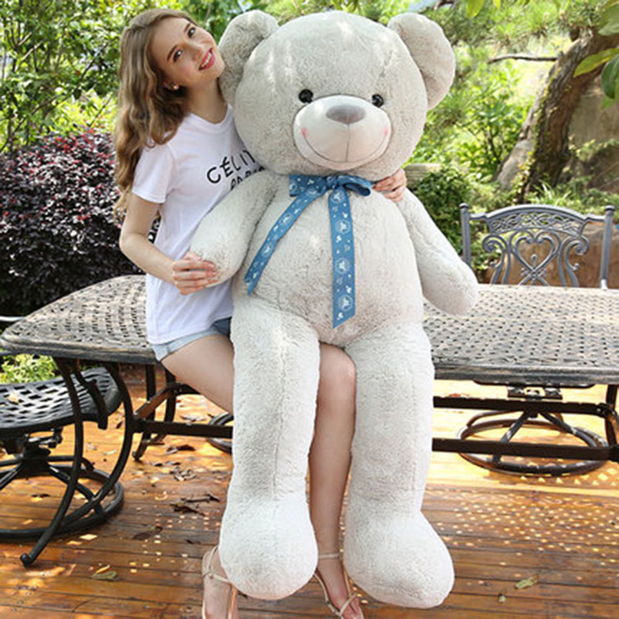Cute Animal Soft Stuffed Plush Toys Purple Bear Soft Plush Toy Birthday Gift Large Bear Stuffed Dolls Valentine Day Gift 70C0074 150cm bear big plush toys giant teddy bear large soft toy stuffed bear white bear i love you valentine day birthday gift