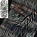 Fashion Silver Laser Zebra Pattern Nail Art Transfer Foil Sticker for Nail Tip Craft Manicure Decoration GL20