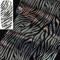 Moda de Prata Do Laser Padrão Zebra Nail Art Transferência Folha Etiqueta para Unhas Dica Craft Manicure Decoração GL20