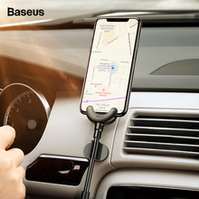Baseus USB Cable For iPhone XS Max XR X 8 7 6 6s 5 5s se 360 Degrees Car Phone Holder Stand Cable Clip Winder USB Charging Cable