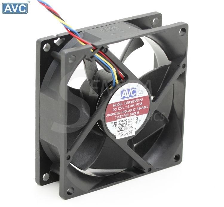 original AVC DS08025R12U 8025 8cm 80mm DC 12V 0.7A computer server inverter chassis cooling fans cooler original delta aub0812vhb 8015 8cm 80mm dc 12v 0 30a slim chassis power supply cooling fans cooler