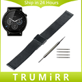 22mm Stainless Steel Watch Band Strap Bracelet for Moto 360 2 Gen 46mm LG G Watch W100 / R W110 / Urbane W150 Pebble Time Steel