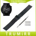 22mm de acero inoxidable reloj de pulsera correa de la venda para moto 360 2 gen 46mm lg g watch w100/r w110/urbano w150 pebble acero tiempo