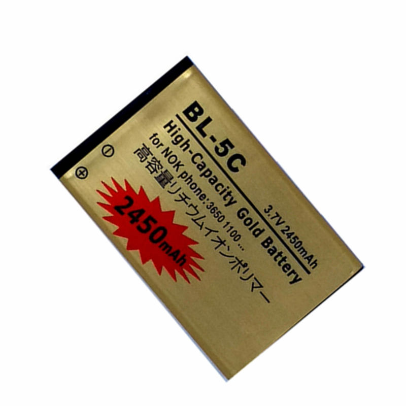 BL-5C Сменный аккумулятор для Nokia 2610 2600 2300 6230 6630 n70 n71 1112 1208 1600 1100 1101 n72 внутренний аккумулятор