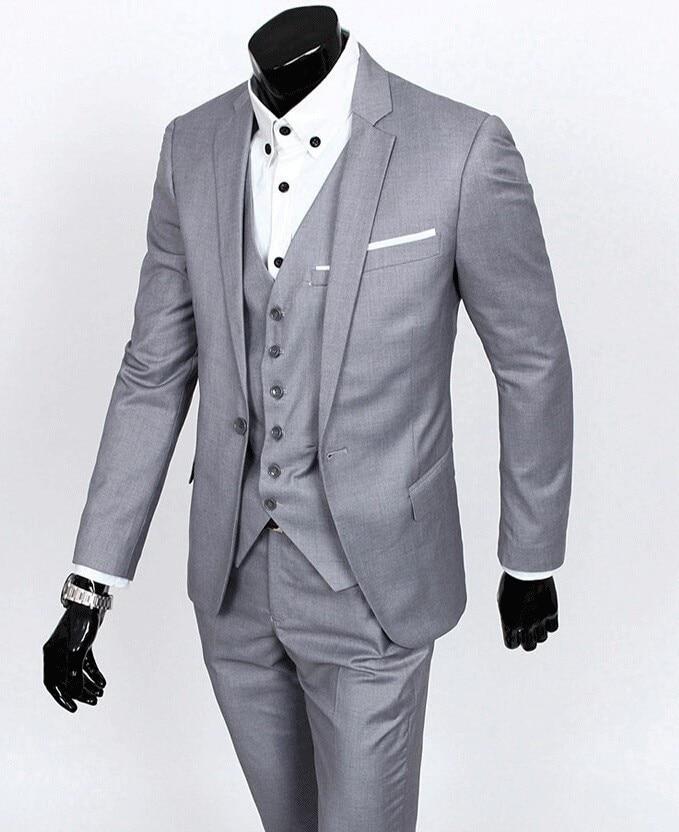 Custom Made Groom Tuxedo Groomsmen 4 Colors Wedding Dinner Evening Suits Best Man Bridegroom Jacket Pants Tie Vest B18 In From Men S Clothing
