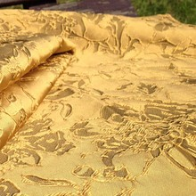 3D Ouro Brilhante Jacquard Brocado Tecido para Vestido de Noiva, Diy Africano Tecidos De Costura Elástica, Vestido de Materiais De Costura Tecidos