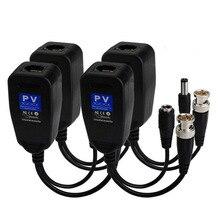 5 pares de cable coaxial CCTV BNC, fuente de alimentación de vídeo Balun, transceptor a conector CAT5e 6 RJ45 HJ55