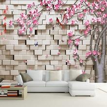 Custom Any Size 3D Stereoscopic Geometric Squares Flower Tree
