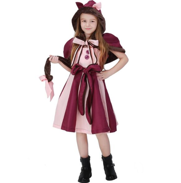 girl Halloween Costumes For kid Party Alice Costume Hot Alice In Wonderland Costume Cheshire Cat Cosplay Fancy Dress A102