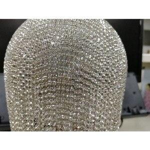 Image 5 - רסיס יהלומי ריינסטון עגול כדור ערב שקיות נשים 2020 אופנה מיני גדילים מצמד תיק גבירותיי טבעת ציפורני תיק