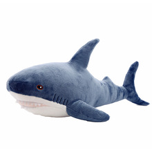 for Birthday Gift 45cm 80cm Plush Toys Stuffed Toy Shark Kids Children Toys Boys Cushion Girls Animal Reading Pillow about 45cm simulation dogs and tigers plush toy stuffed animal dolls kids children birthday gift toys