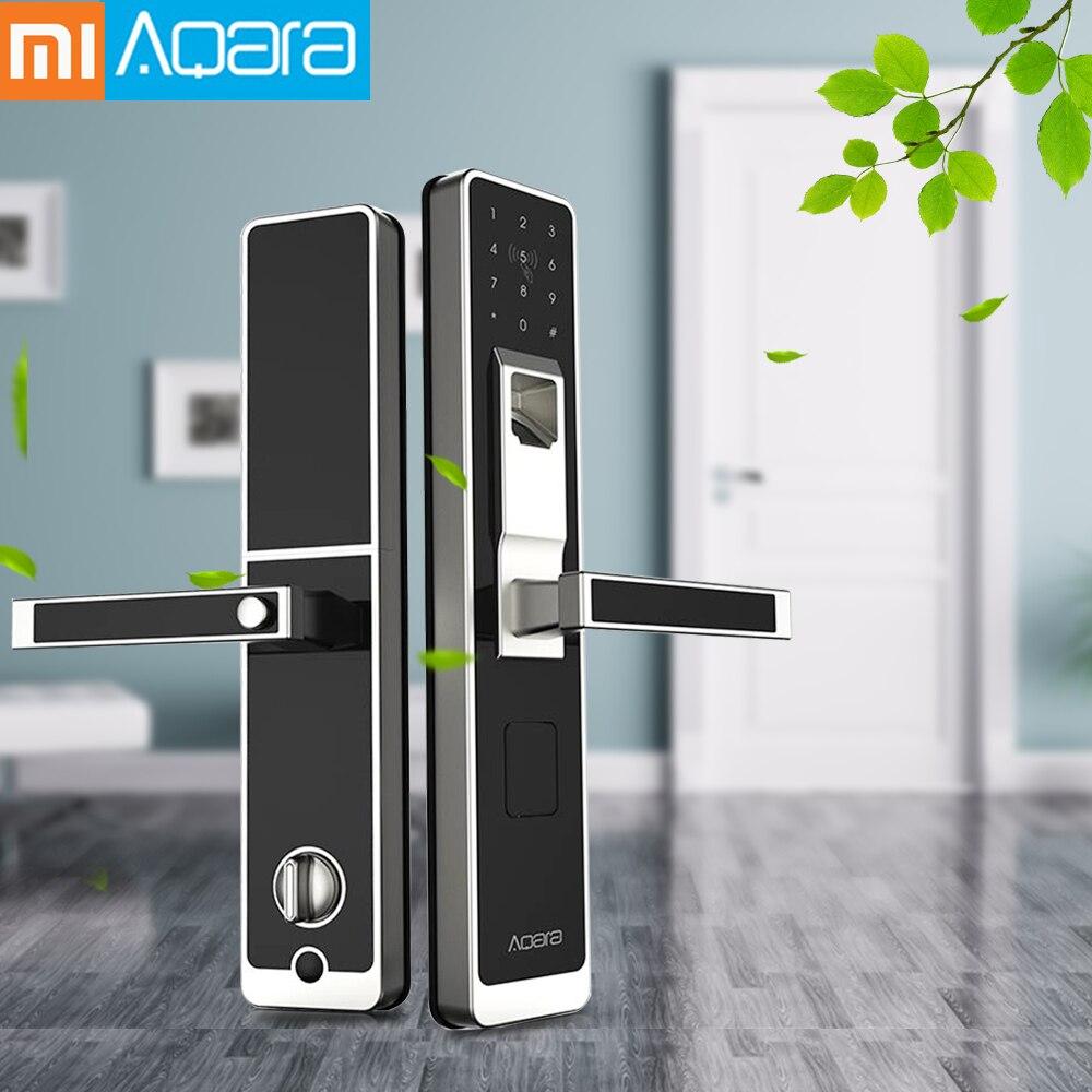 Original Xiaomi Aqara cerradura inteligente Mi puerta táctil cerradura electrónica Live huella digital desbloqueo contraseña Control de aplicación para la seguridad del hogar