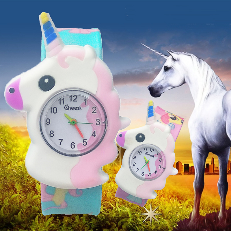 Children Watch Cartoon Unicorn Pony Watch Students Clock Analog Dial Quartz Watches Kids Wrist Watches For Boys Girls Xmas Gifts