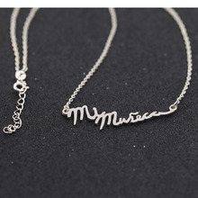 925 Solid Silver Customized Hebrew Necklace Engraved Name Necklace FBB Gift
